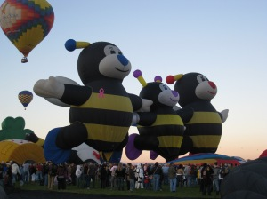 Hot air balloon bees