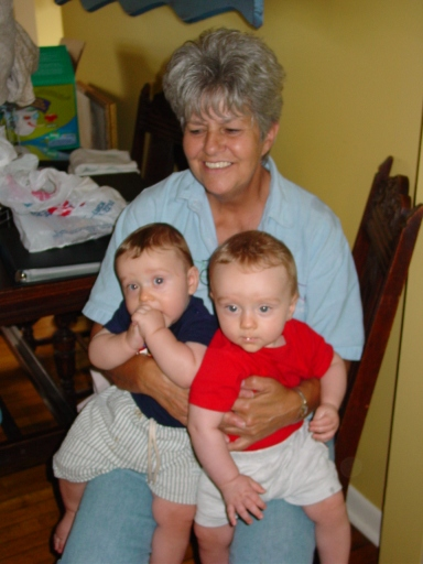 My mom and my twins