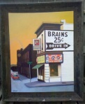 Brains and Donuts in a custom designed industrial frame. No two frames are alike.