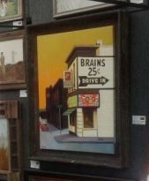 Framed Original: Brains and Donuts