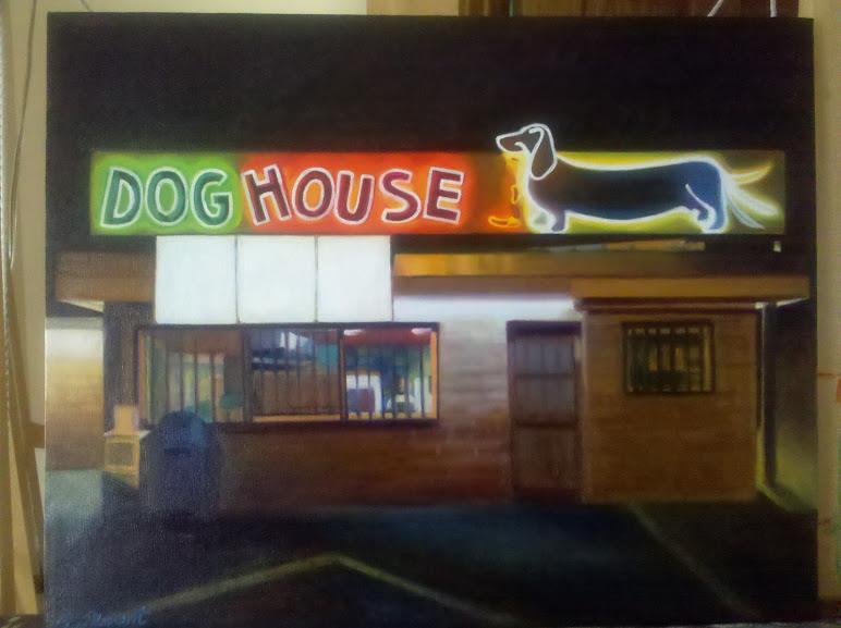 Off the easel albuquerque neon the vintage painter for Dog house albuquerque