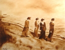 Original Painting: Escanaba Beach Combers. Not Available. Sold.