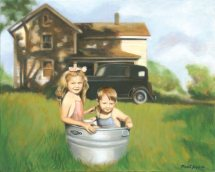 "Tub Full of Sunshine (10"" x 12.5"") http://goo.gl/iPK5iV All canvas prints are in limited editions and are signed by me. Copyright (C) reserved."