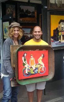 One of my favorite clients at the 2013 Deep Ellum Art Fair.