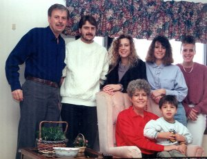 My family. The 80's were a a strange time for hair.
